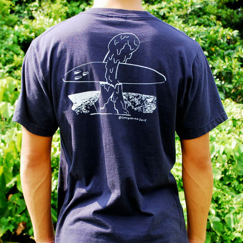 MOUNTAIN × GAKIYA ISAMU  T Shirt / Navy