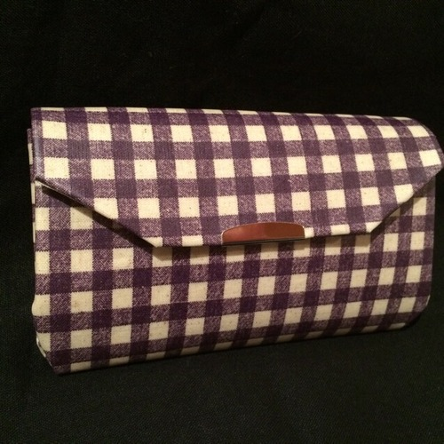 Coin Pocket長財布 : Purple Gingham