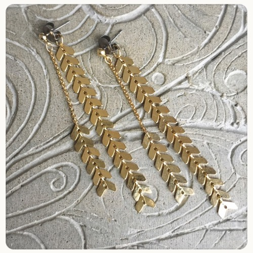 【R2012】arrow chain  2wayピアス