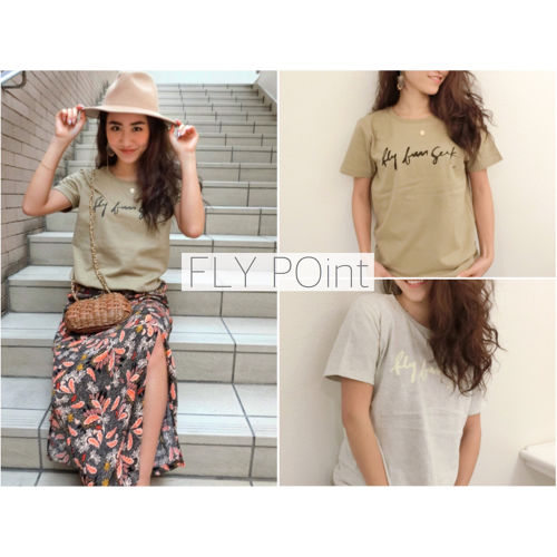 -fly fun seek T shirt- <sand Khaki / right gray>