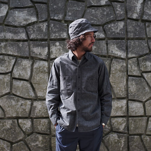 BLACK CHAMBRAY VINTAGE STANDARD SHIRTS