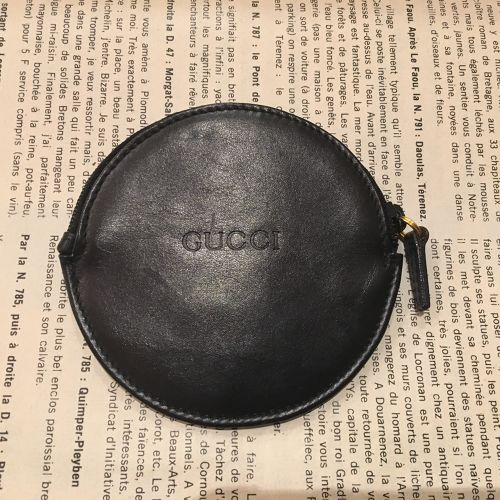GUCCI leather coin case