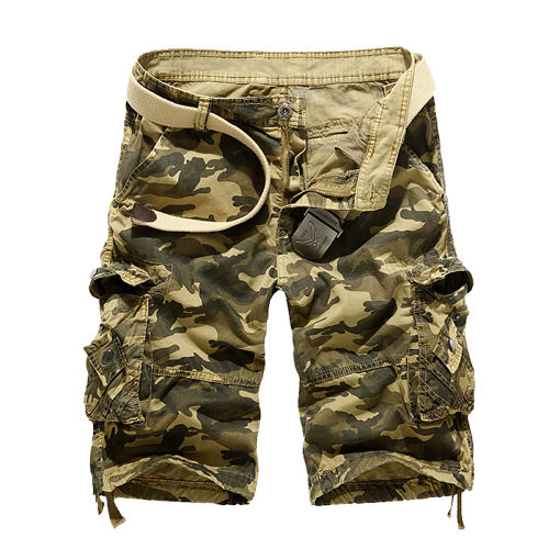 2016 Casual Men Cargo Shorts Summer Style Overalls Camouflage  Loose Multi-Pocket Shorts For Man Free shipping