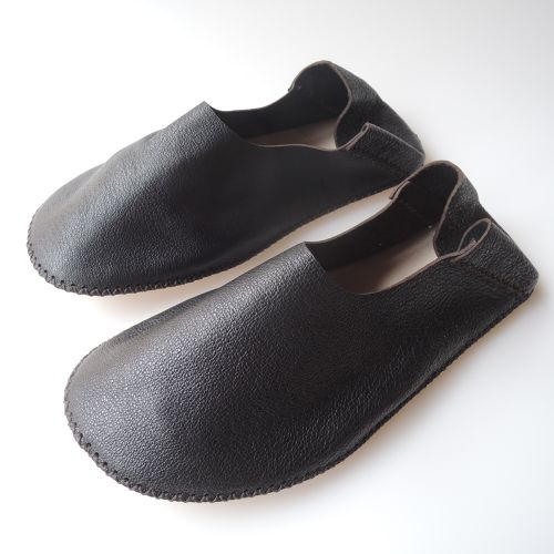 【Small】TOKYO Lether slippers HEIWA [Black] Chrome-free