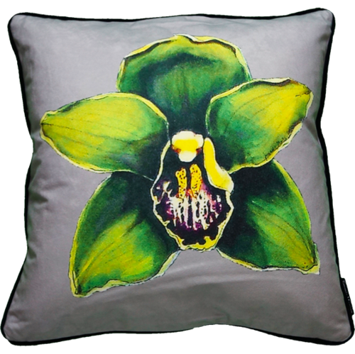 Jimmie Martin Cushions Green orchid