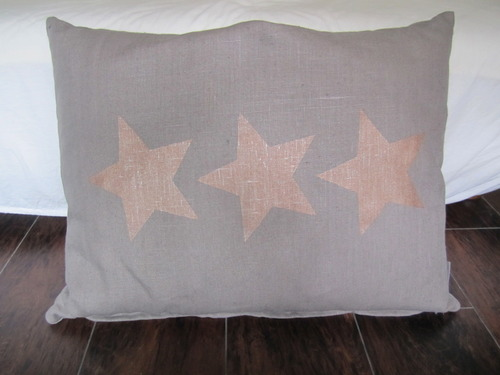 Linen Cushion-Copper 3 Stars
