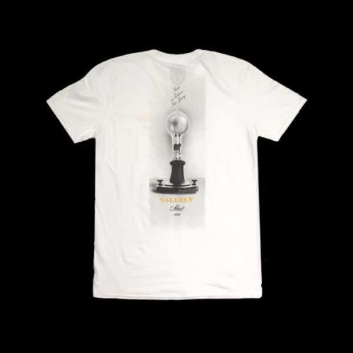 SHUT x MIKE VALLELY MADE IN EDISON S/S TEE WHITE