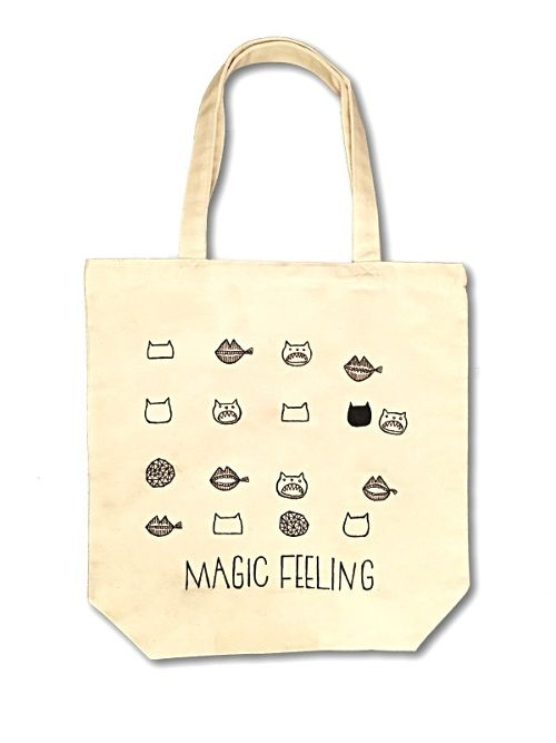 Hand Drawing Tote Bag / Cats & Lips