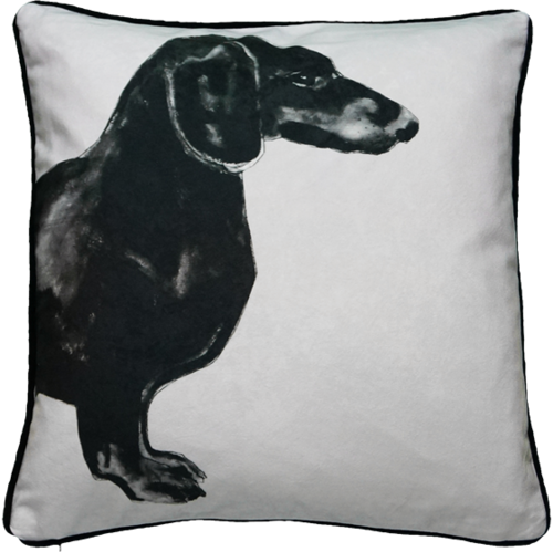 Jimmie Martin Cushions Grey sausage dog [FRONT]