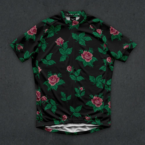 TwinSix サイクルジャージ THE SPEEDY ROSE CANYON (BLACK)