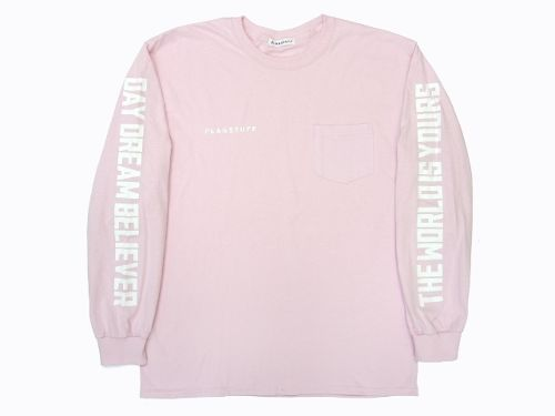 """""""WORLD-DAY DREAM""""L/S Tee  PINK"""