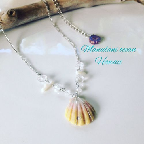 Sunriseshell&Quartz *Necklace