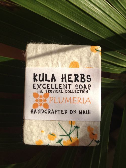 KULA HERBS    EXCELLENT SOAP   plumeria 4oz(120g)