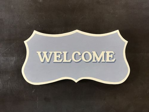 """Signpaint """"Welcome"""""""