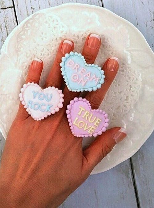 Heart icing cookies ring