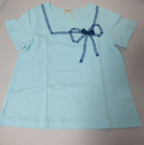 140-150size【NEW】trois lspins リボンモチーフTシャツ