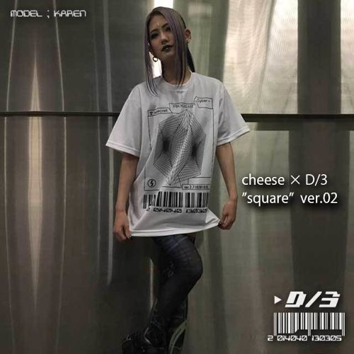 cheese×D/3  スクエア Tシャツ ver.02  白