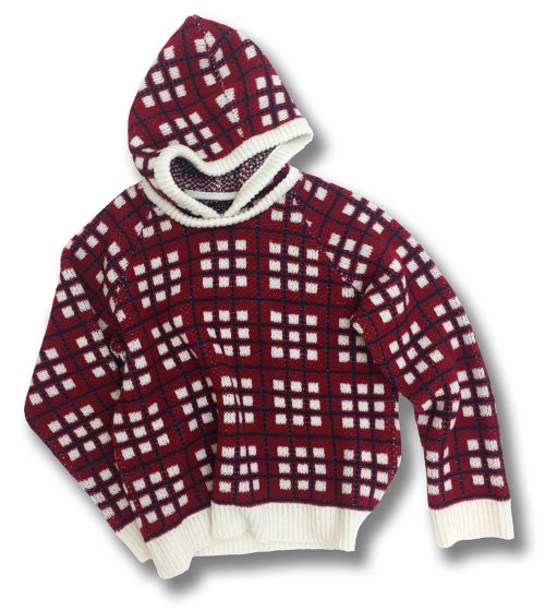 CYDERHOUSE KNIT HOODIE 【Red】