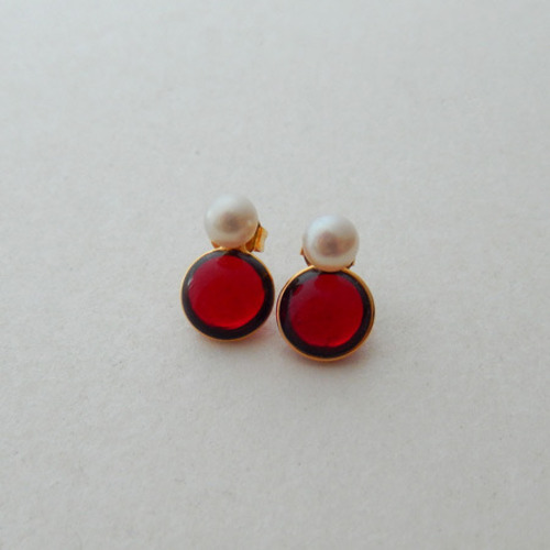 2way pearl + glass - red