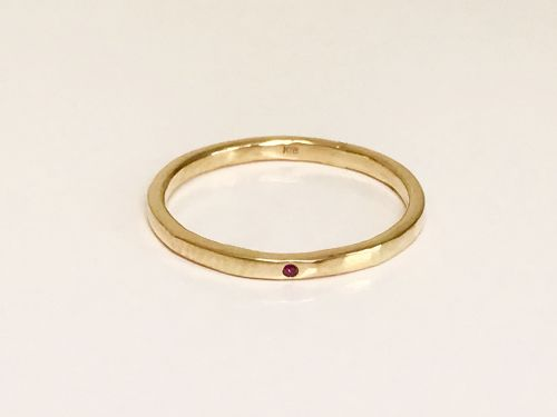 Rubeus ring / K18 Yellow gold. Ruby