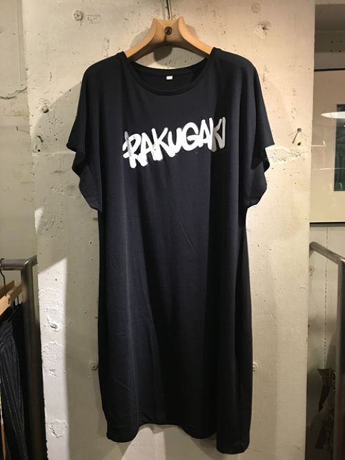 RAKUGAKI GRAFFITI Logo Dolman Sleeve One Piece Black x White