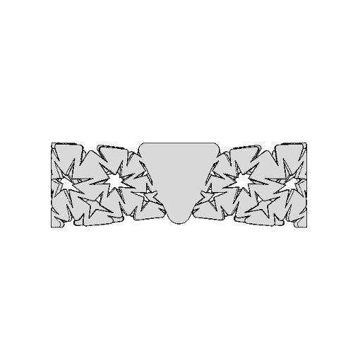 Auxetic pattern Bow tie_Gray