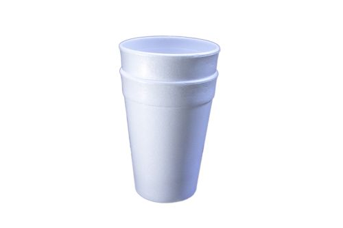 White Double Cup with Stickers
