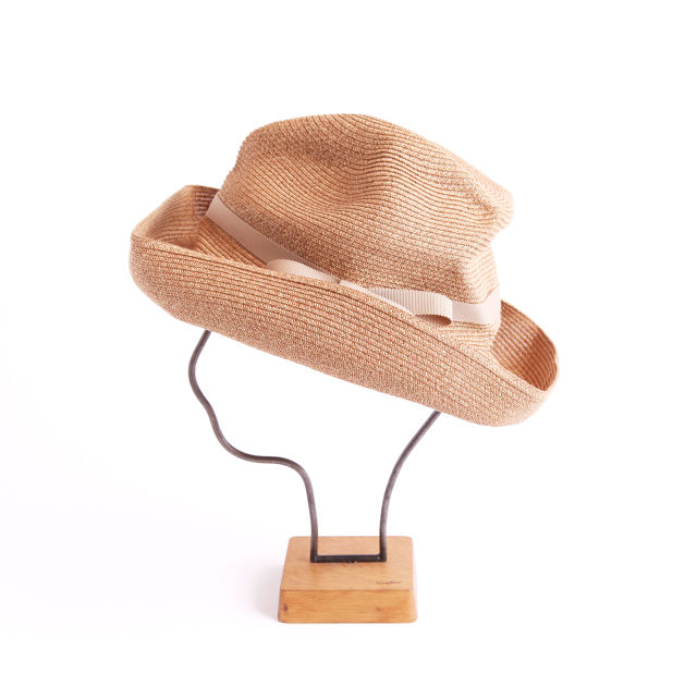 mature ha./BOXED HAT 101 mixbrown×beige