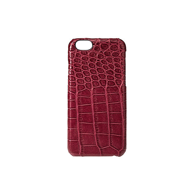GRAMAS Meister Crocodile Case MI8014 for iPhone 6s / iPhone 6  WINERED - メイン画像