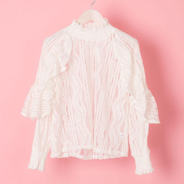 SHOLDER FRILL LACY TOP(VN17011001)