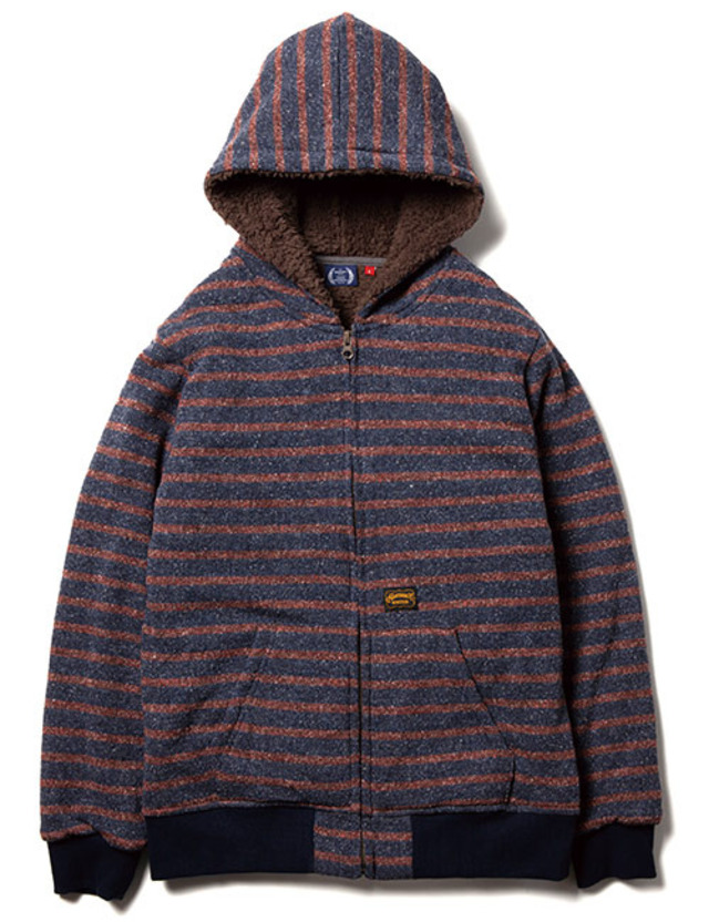 BORED BORDER ZIP UP PARKA