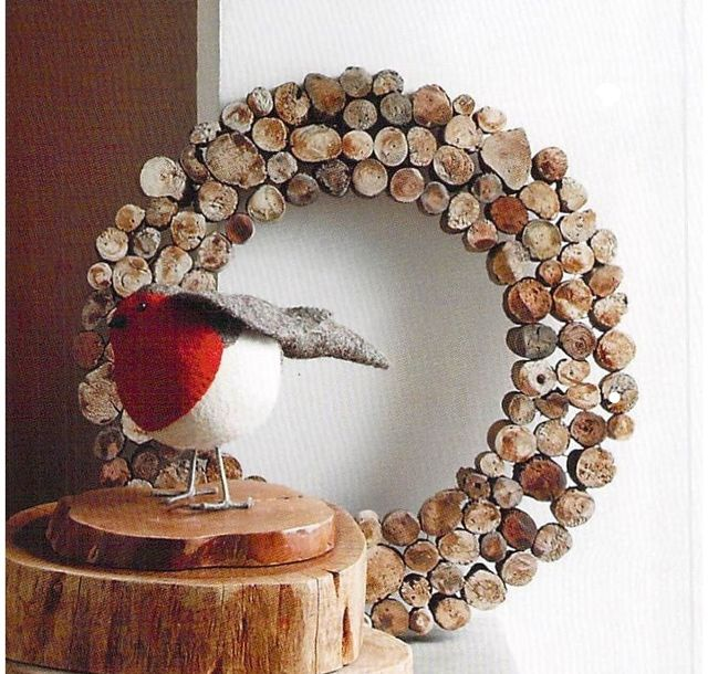 流木リースDriftwood Slice Wall Wreaths & Trees
