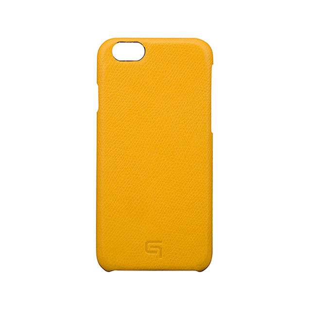 GRAMAS Embossed Grain Leather Case GRLC8076 for iPhone 6s / iPhone 6 YELLOW - メイン画像