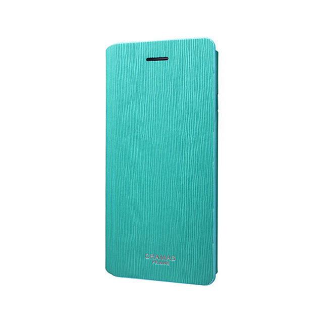 "GRAMAS FEMME Flap Leather Case ""Colo"" FLC205 for iPhone 6s / iPhone 6 Turquoise - メイン画像"