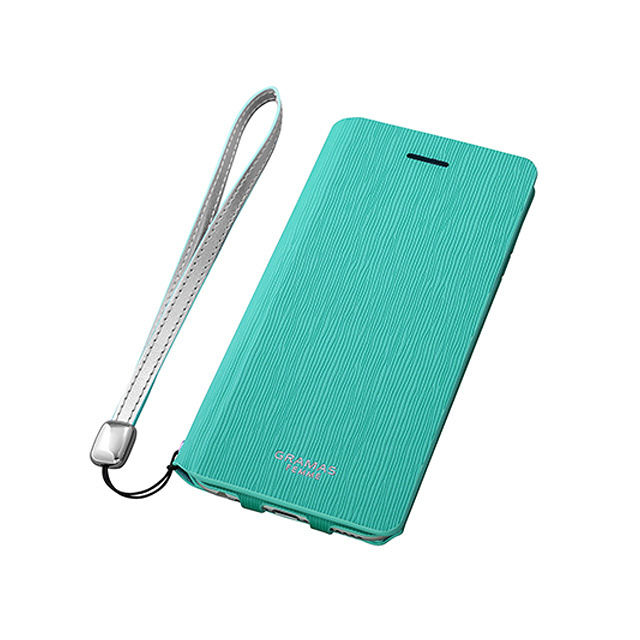 "GRAMAS FEMME Flap Leather Case ""Colo"" FLC215P for iPhone 6s Plus / iPhone 6 Plus TURQUOISE - メイン画像"