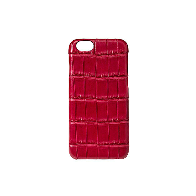 GRAMAS Meister Crocodile Case MI8014 for iPhone 6s / iPhone 6  RED - メイン画像