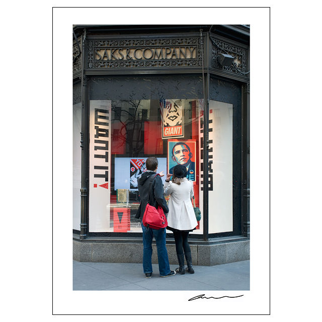 Reproduction Poster_NYC Windows_Saks