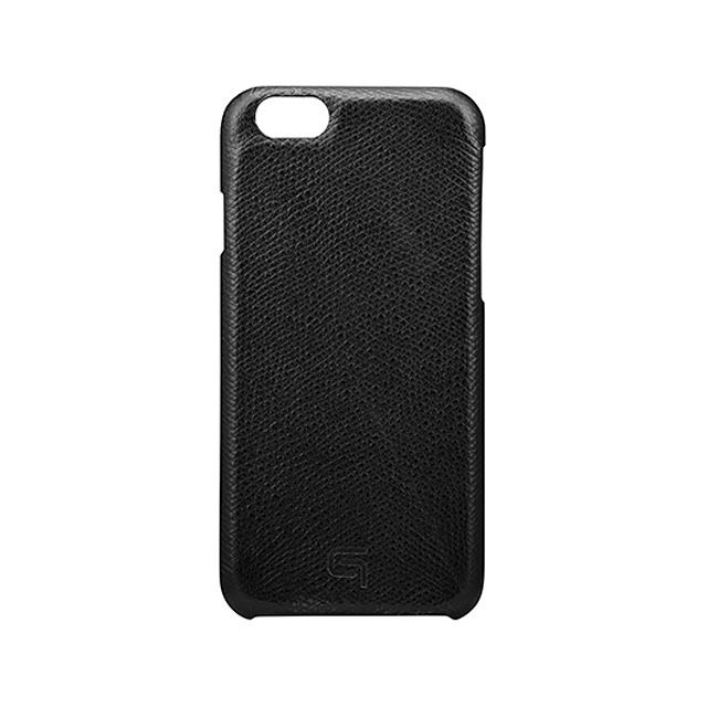 GRAMAS Embossed Grain Leather Case GRLC8076 for iPhone 6s / iPhone 6 BLACK - メイン画像