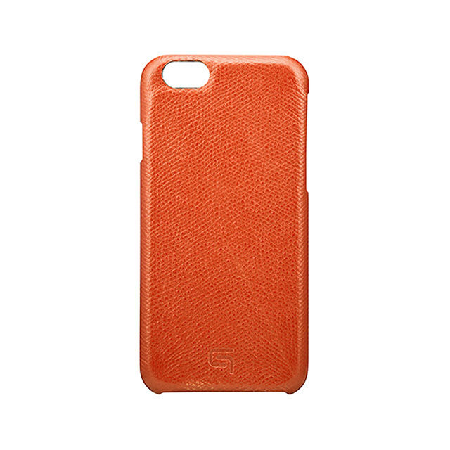 GRAMAS Embossed Grain Leather Case GRLC8076 for iPhone 6s / iPhone 6 ORANGE - メイン画像
