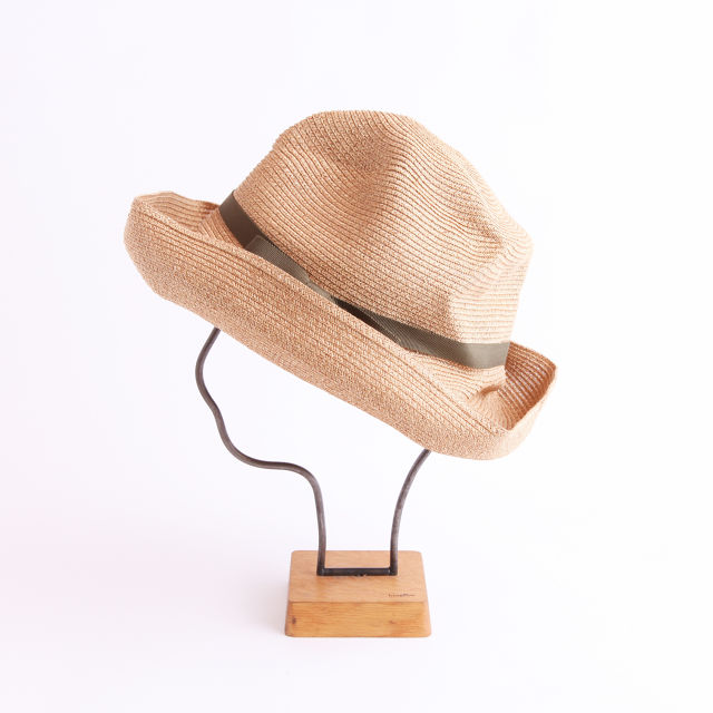 mature ha./BOXED HAT 101 mixbrown×khaki