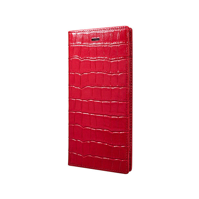 GRAMAS Crocodile Patterned Full Leather Case LC825P for iPhone 6s Plus / iPhone 6 Plus RED - メイン画像