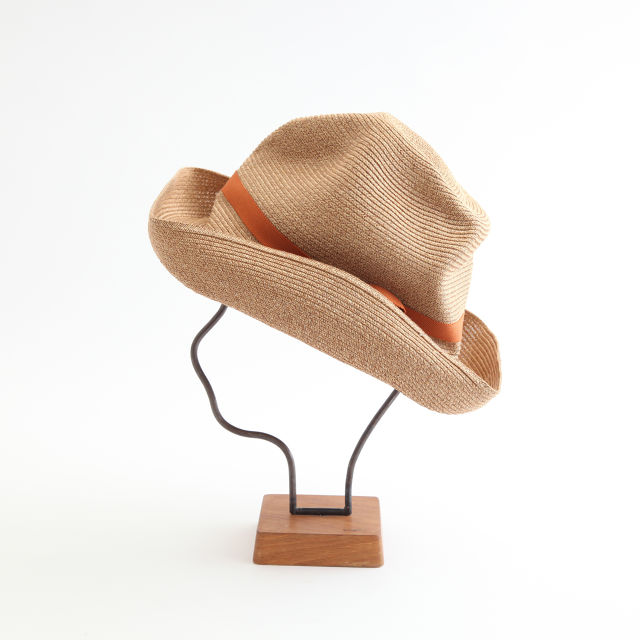 mature ha./BOXED HAT 101 mixbrown×dark orange