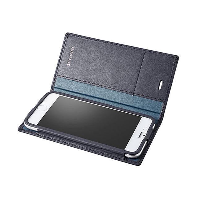 GRAMAS Full Leather Case LC644 for iPhone 6s Plus / iPhone 6 Plus  NAVY - メイン画像
