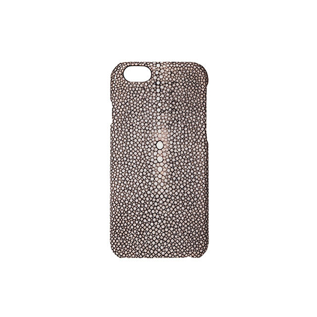 GRAMAS Meister Galuchat Case MI8004 for iPhone 6s / iPhone 6  DARK BROWN - メイン画像