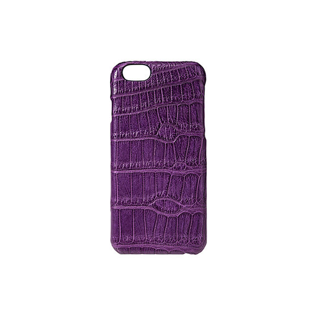 GRAMAS Meister Crocodile Case MI8014 for iPhone 6s / iPhone 6  PURPLE - メイン画像