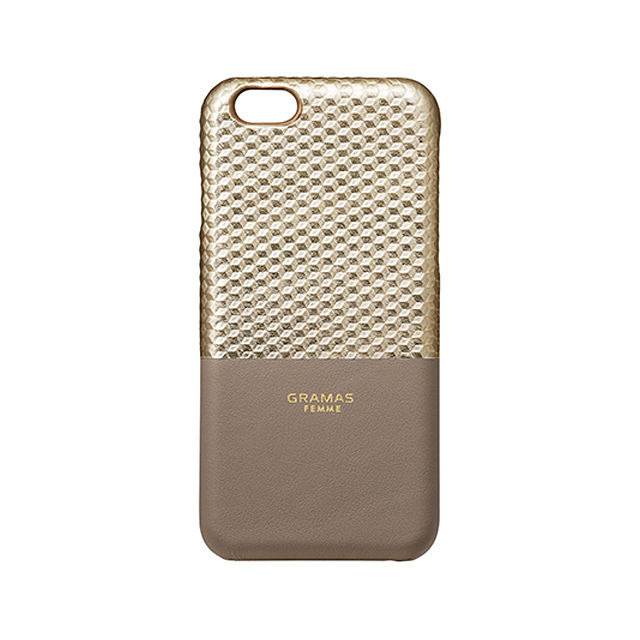 "GRAMAS FEMME Back Leather Case ""Hex"" FLC225 for iPhone 6s / iPhone 6 CHAMPAGNE - メイン画像"