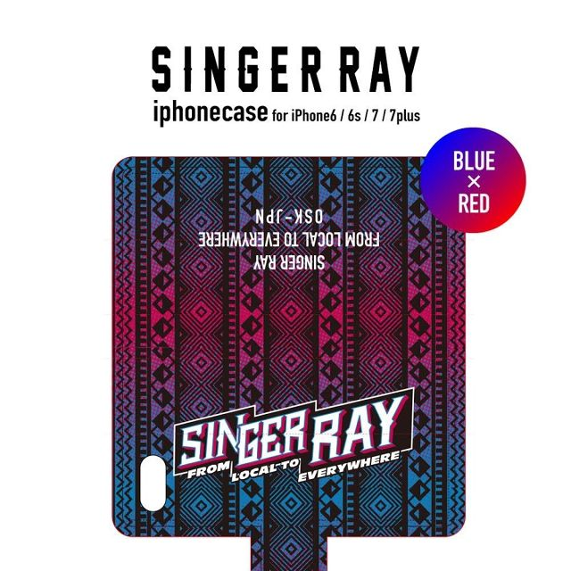 RAY IPHONE CASE 2017 (BLUE&RED) iPhone6/6S,7,7plus対象