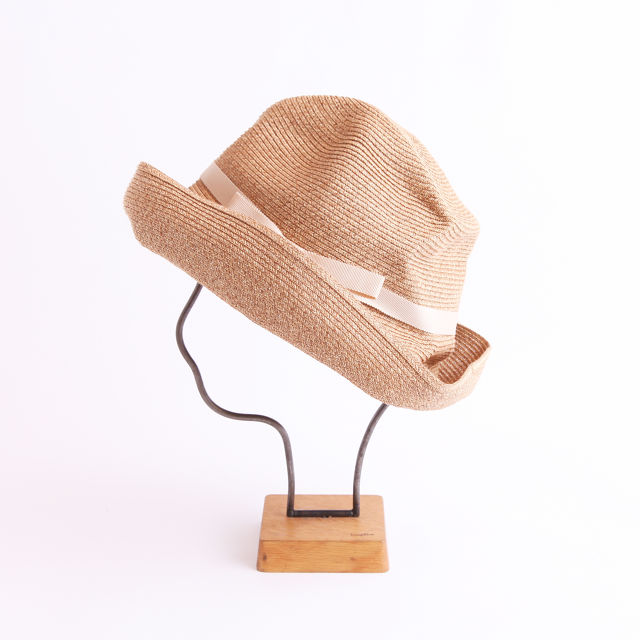mature ha./BOXED HAT 101 mixbrown×light beige