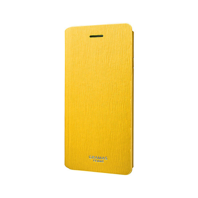 "GRAMAS FEMME Flap Leather Case ""Colo"" FLC205 for iPhone 6s / iPhone 6 YELLOW - メイン画像"