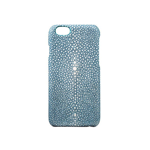 GRAMAS Meister Galuchat Case MI8004 for iPhone 6s / iPhone 6 BLUE - メイン画像